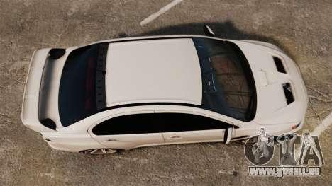 Mitsubishi Lancer Evolution X FQ400 (Cor Rims) pour GTA 4 est un droit