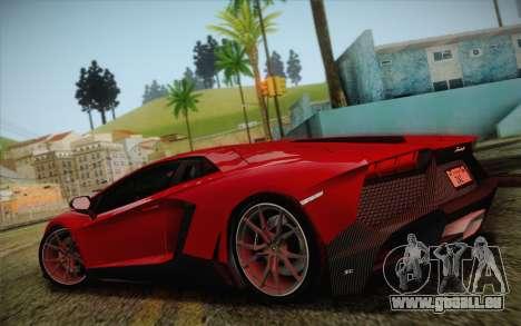 Lamborghini Aventador LP720-4 2013 pour GTA San Andreas laissé vue