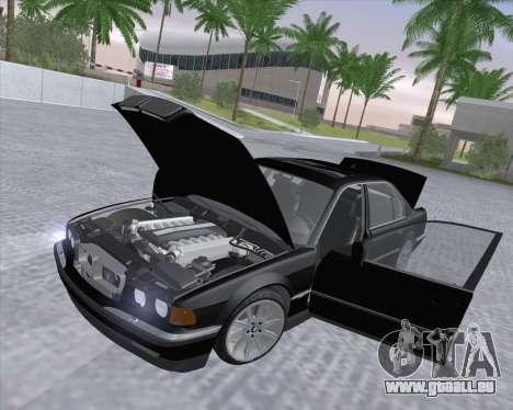 BMW 7-series E38 pour GTA San Andreas vue intérieure
