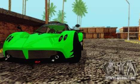 Pagani Zonda Type R Green für GTA San Andreas rechten Ansicht