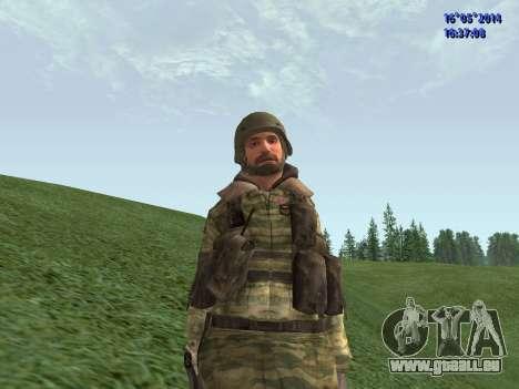 Militaire en tenue de camouflage pour GTA San Andreas