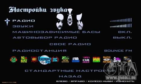 Black Metal Menu pour GTA San Andreas sixième écran