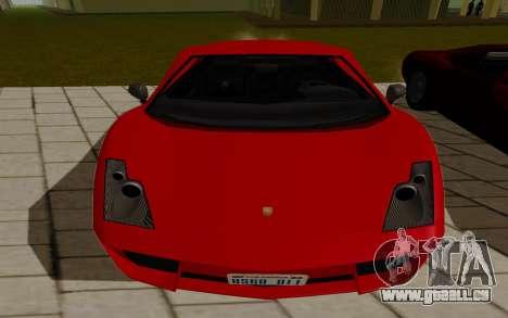 GTA 5 Pegassi Vacca pour GTA San Andreas sur la vue arrière gauche