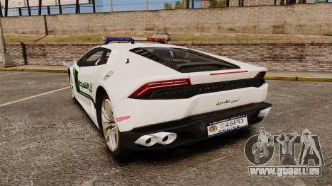 Lamborghini Huracan Cop [ELS] für GTA 4 hinten links Ansicht
