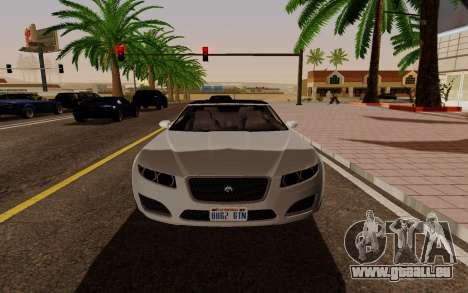 GTA 5 Lampadati Felon GT V1.0 für GTA San Andreas rechten Ansicht