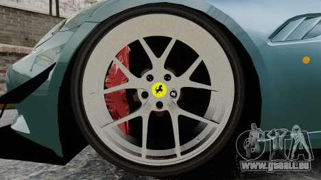 Ferrari California für GTA 4 Rückansicht