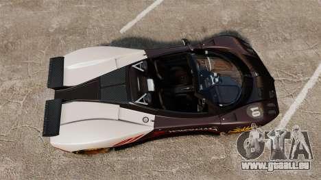 Pagani Zonda C12 S Roadster 2001 PJ4 für GTA 4 rechte Ansicht