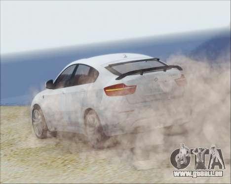 BMW X6 M 2013 Final pour GTA San Andreas vue de droite