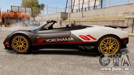Pagani Zonda C12 S Roadster 2001 PJ4 pour GTA 4 est une gauche