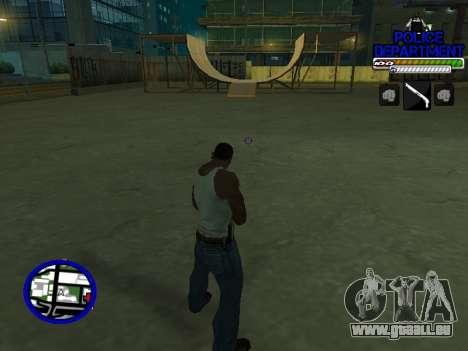 С-Hud Département De La Police De pour GTA San Andreas