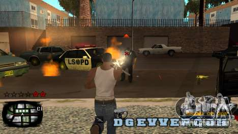C-HUD Kings of Rap pour GTA San Andreas deuxième écran