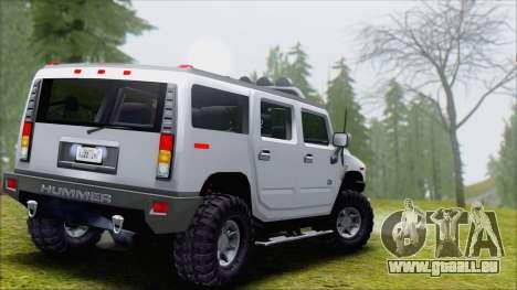 Hummer H2 Tunable pour GTA San Andreas vue de droite