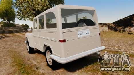 Rural Willys pour GTA 4 Vue arrière de la gauche