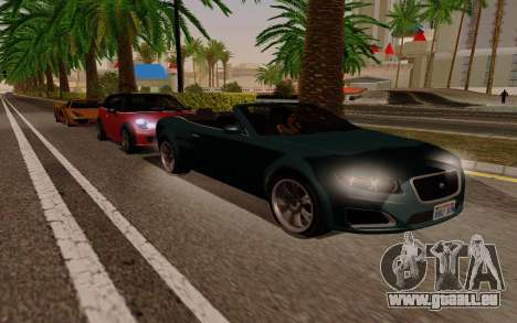 GTA 5 Lampadati Felon GT V1.0 für GTA San Andreas Rückansicht