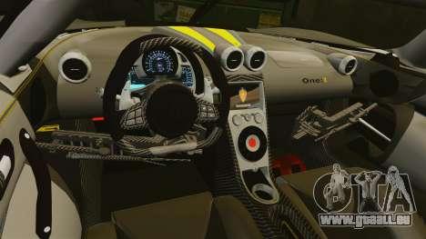 Koenigsegg One:1 [EPM] pour GTA 4 est un côté