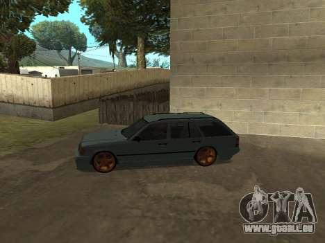 Mercedes-Benz W124 Wagon pour GTA San Andreas sur la vue arrière gauche