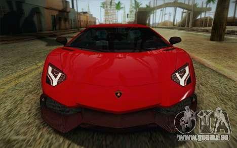 Lamborghini Aventador LP720-4 2013 pour GTA San Andreas vue de dessus
