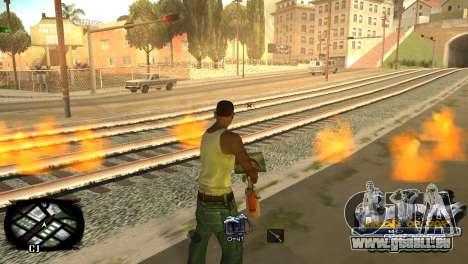 C-HUD Kings of Rap pour GTA San Andreas quatrième écran