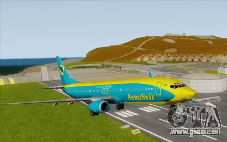 Boeing 737-800 AeroSvit Ukrainian Airlines pour GTA San Andreas