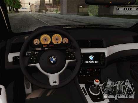 BMW M3 E46 2005 pour GTA San Andreas vue de côté