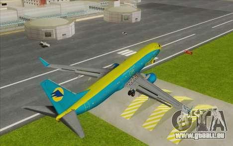 Boeing 737-800 AeroSvit Ukrainian Airlines für GTA San Andreas zurück linke Ansicht