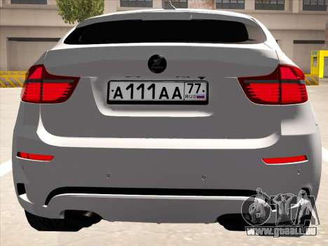BMW X6 Hamann pour GTA San Andreas vue intérieure