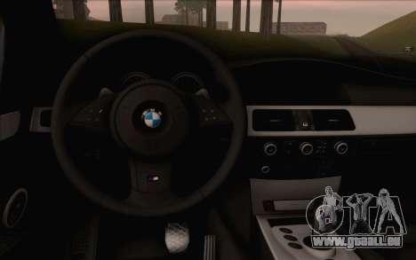 BMW M5 E60 2009 für GTA San Andreas rechten Ansicht