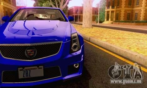 Cadillac CTS-V Sedan 2009-2014 pour GTA San Andreas salon