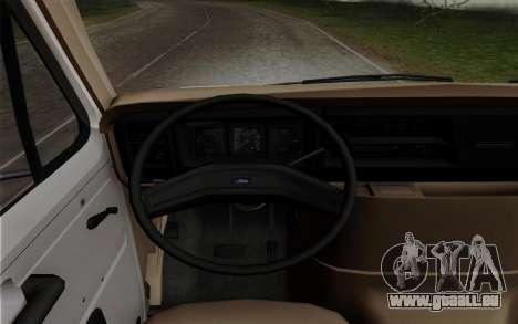 Ford E-350 1982 für GTA San Andreas zurück linke Ansicht