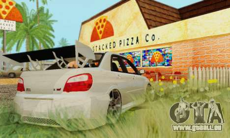 Subaru Impreza WRX Stock pour GTA San Andreas sur la vue arrière gauche
