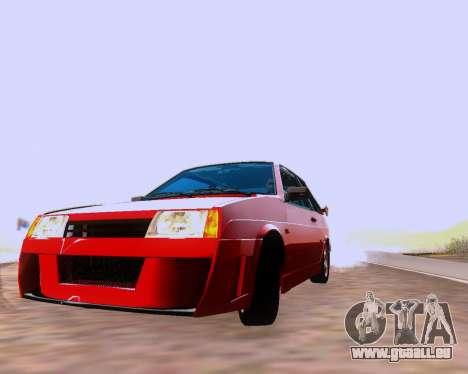 VAZ 2108 Tuneable für GTA San Andreas Innen