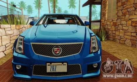 Cadillac CTS-V Sedan 2009-2014 pour GTA San Andreas vue de dessus