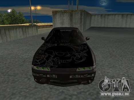 Nissan s13 stock de fusion pour GTA San Andreas sur la vue arrière gauche
