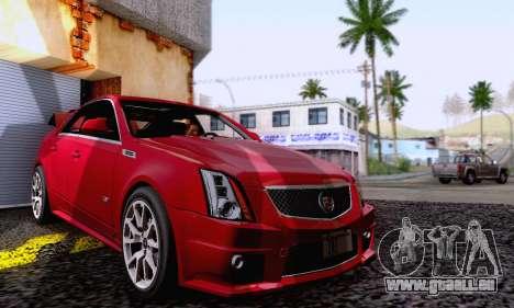 Cadillac CTS-V Sedan 2009-2014 pour GTA San Andreas vue de côté