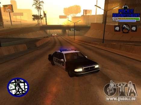 С-Hud Département De La Police De pour GTA San Andreas deuxième écran