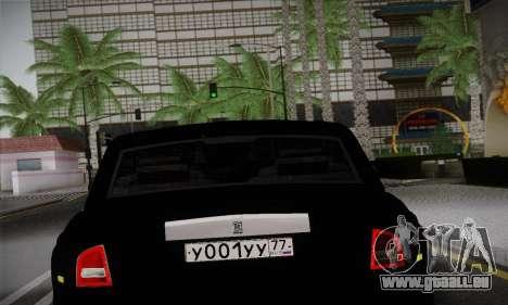 Rolls-Royce Phantom für GTA San Andreas Rückansicht