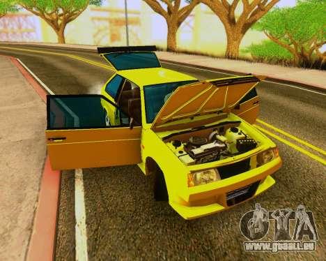 VAZ 2108 Tuneable für GTA San Andreas Rückansicht