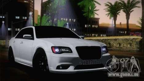 Chrysler 300 SRT8 Black Vapor Edition für GTA San Andreas zurück linke Ansicht