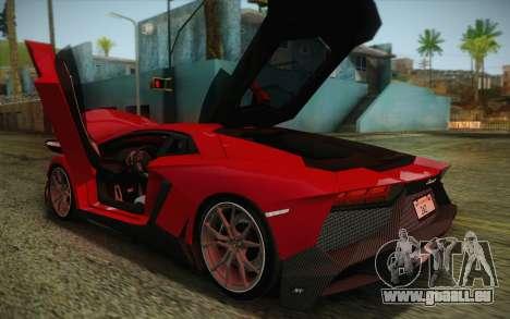 Lamborghini Aventador LP720-4 2013 pour GTA San Andreas vue intérieure