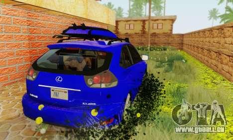 Lexus RX400h 2010 pour GTA San Andreas vue arrière