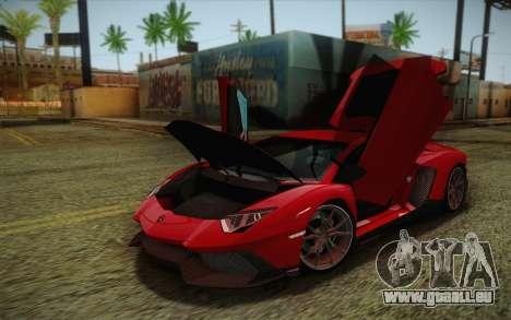Lamborghini Aventador LP720-4 2013 pour GTA San Andreas vue arrière