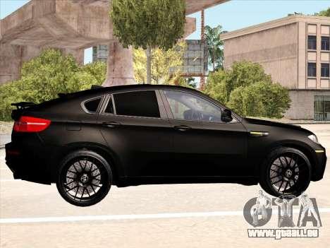 BMW X6 Hamann pour GTA San Andreas salon