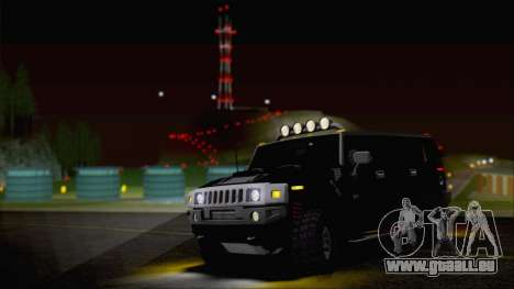 Hummer H2 Tunable für GTA San Andreas obere Ansicht