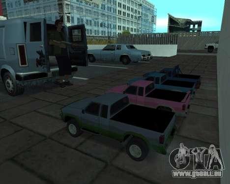 RC Pickup Off Road pour GTA San Andreas sur la vue arrière gauche