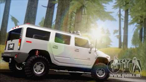 Hummer H2 Tunable pour GTA San Andreas laissé vue