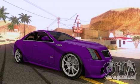 Cadillac CTS-V Sedan 2009-2014 pour GTA San Andreas vue de droite