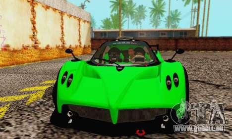 Pagani Zonda Type R Green für GTA San Andreas linke Ansicht