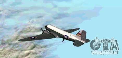 C-47 Dakota de l'USAF pour GTA San Andreas vue de droite