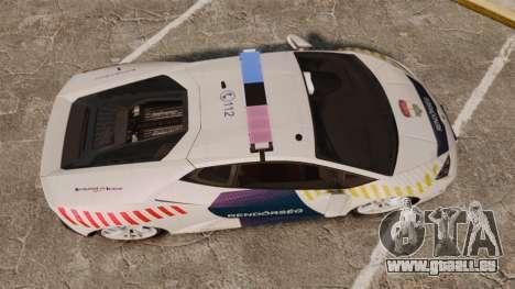 Lamborghini Huracan Hungarian Police [ELS] für GTA 4 rechte Ansicht
