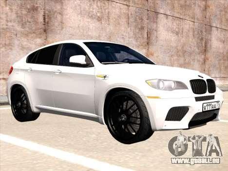 BMW X6 Hamann für GTA San Andreas zurück linke Ansicht